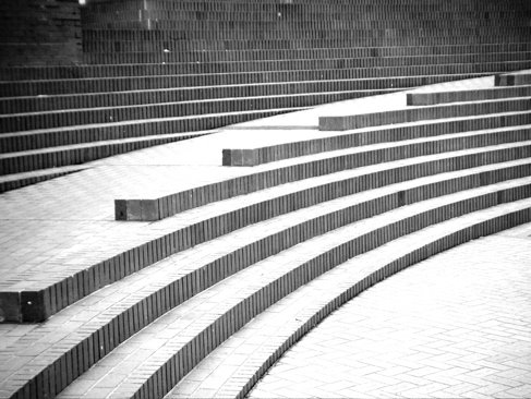 Steps at Pioneer Courthouse Square.