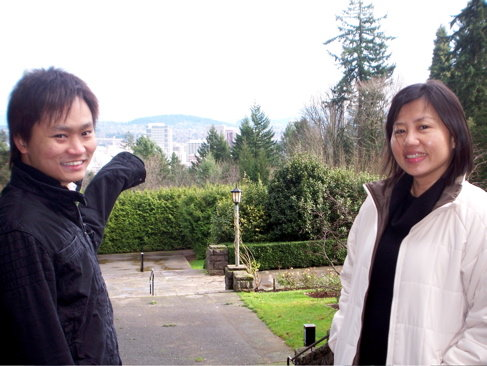 Nik and Jasmine at the Rose Test Garden