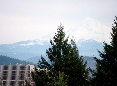 Hood over Portland.
